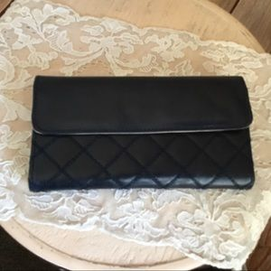 Navy Blue Buxton Leather Wallet